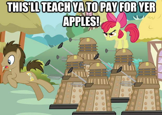this'll teach ya to pay for yer apples
