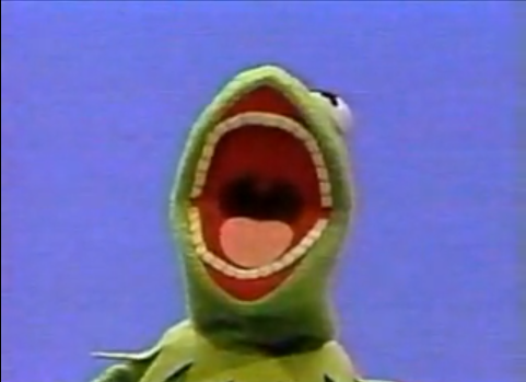 Kermit with teeth
