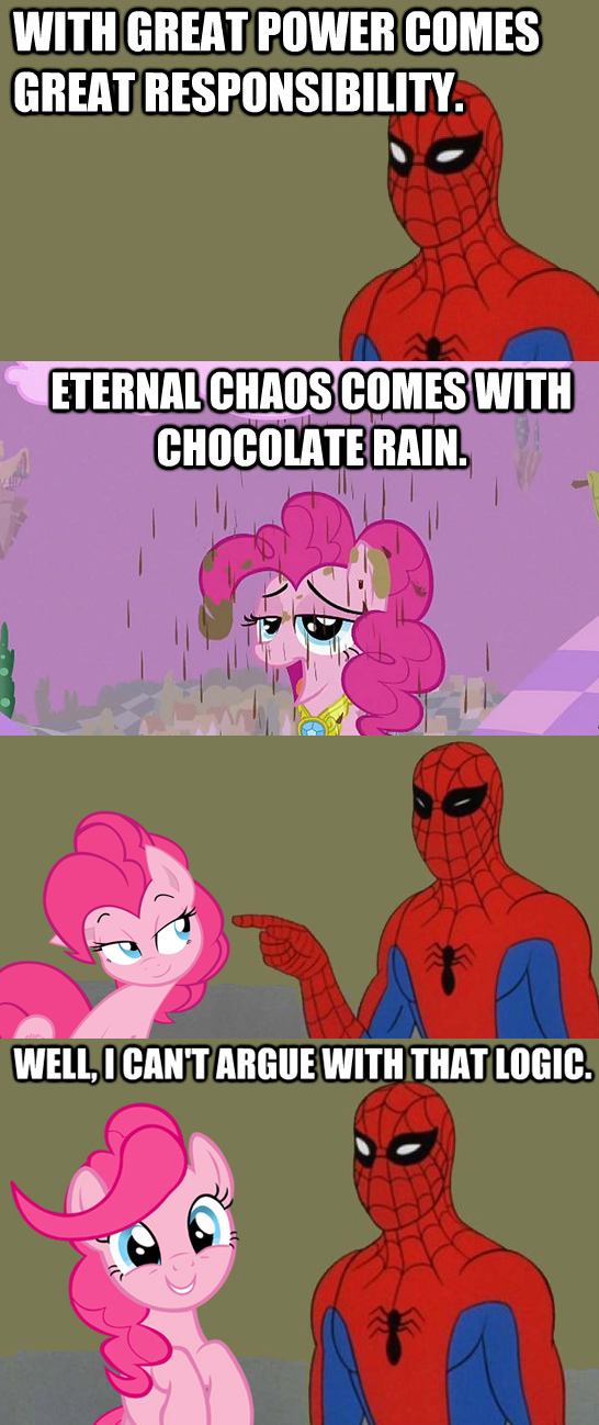 with great power comes chocolate rain