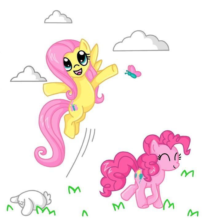 Fluttershy & Pinkie Pie