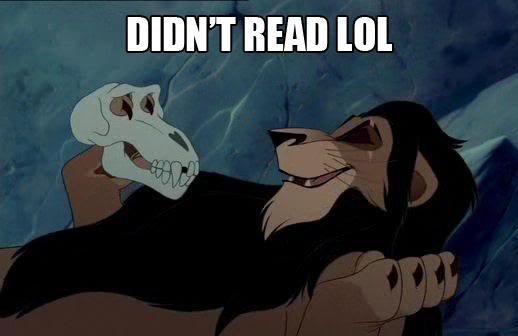 Scar didn't read