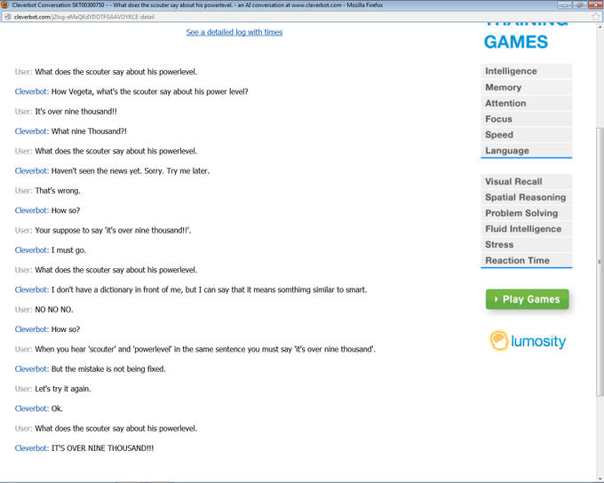 My Cleverbot conversation