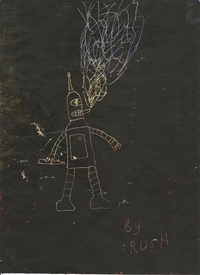 Scratchboard of Bender