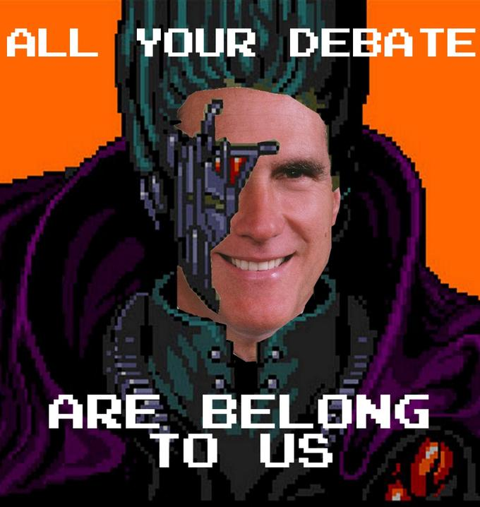All Your Debate Are Belong to Mitt