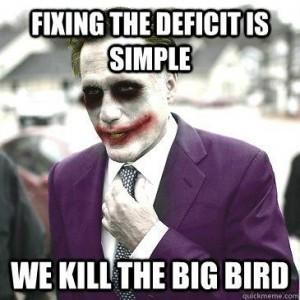 We Kill Big Bird - Romney Joker