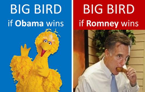 Romney Wins and Eats Big Bird