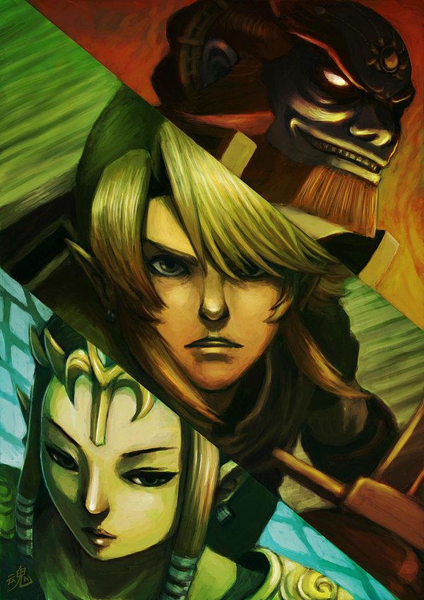 Link, Zelda and Ganon