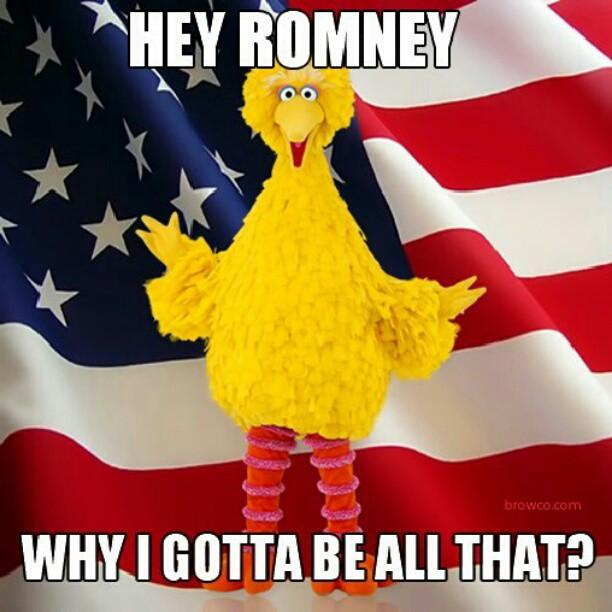 Hey Romney! Why I Gotta be All That?