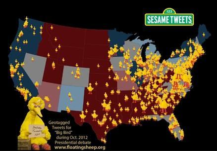 Big Bird Tweet Map