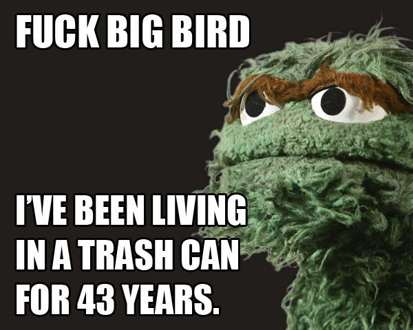 Oscar The Grouch Hates Big Bird