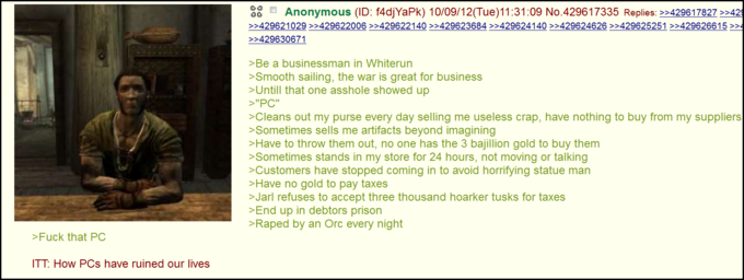 Being a Skyrim merchant sucks
