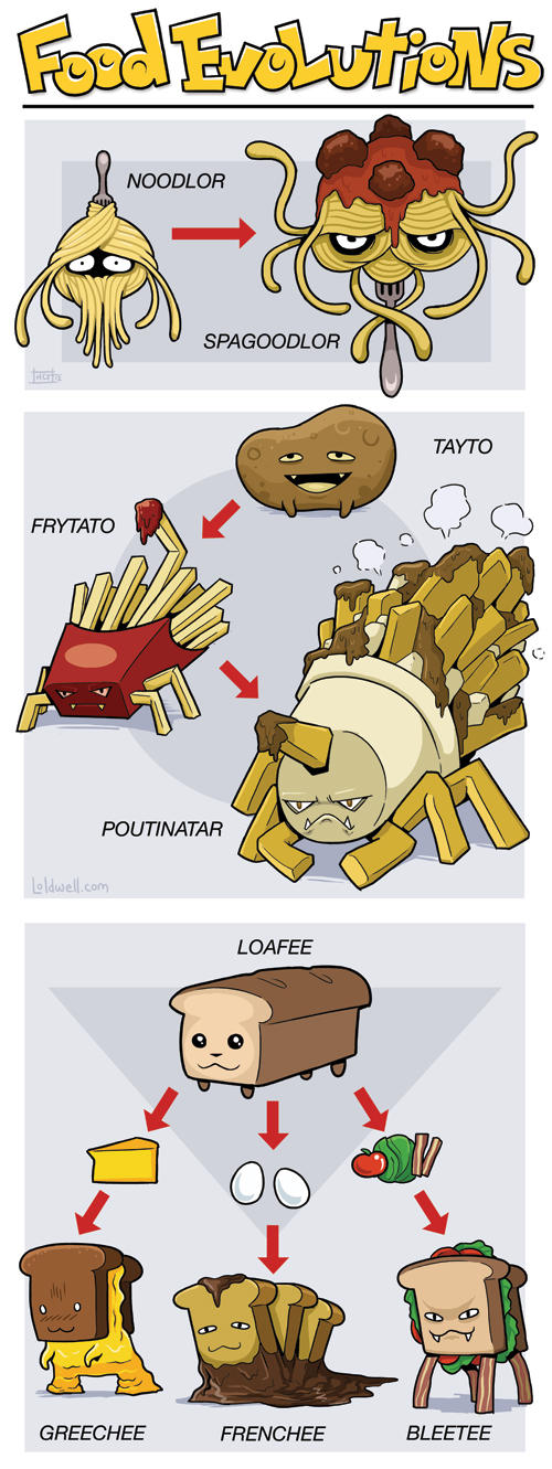 Pokemon Food Evolutions