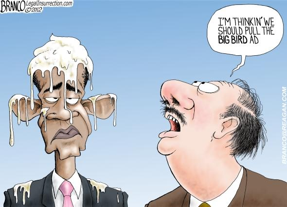Obama Egged By Big Bird