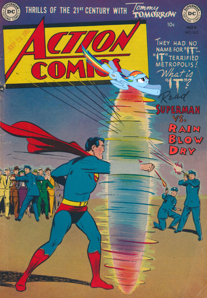 Superman Vs. Rainblow Dry
