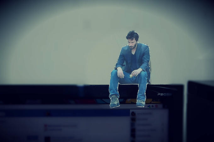 Sad Keanu Cutout