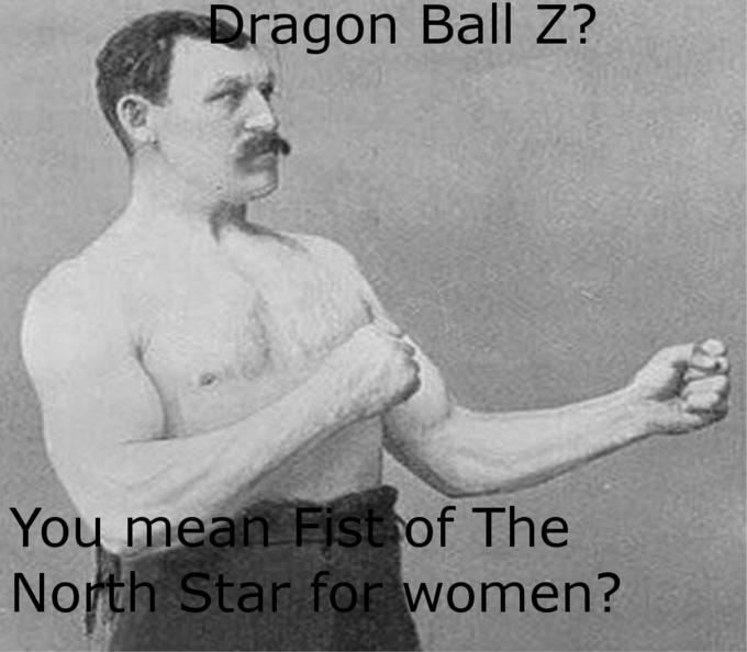 DBZ is just Hukuto No Ken for women