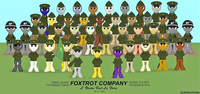 greetings from the mares and stallions over at 1st awesome platoon