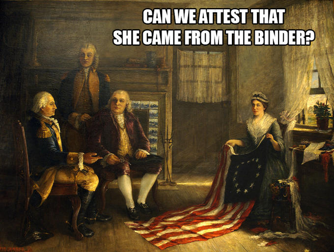 Betsy Ross: Binders full of women