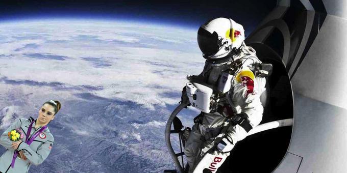 mckayla baumgartner space jump not impressed