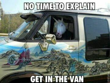 Get in the Van - Unicorn