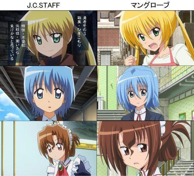 Hayate no Gotoku: J.C. Staff vs Manglobe