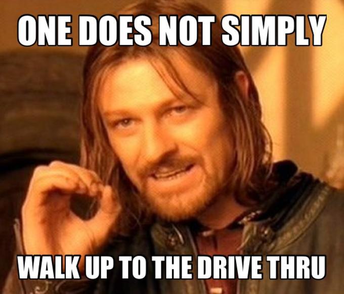 Drive thru level: after midnight