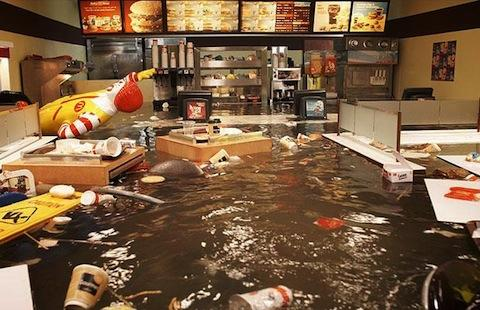 [FAKE] From 2009 Film Flooded McDonalds by Superflex