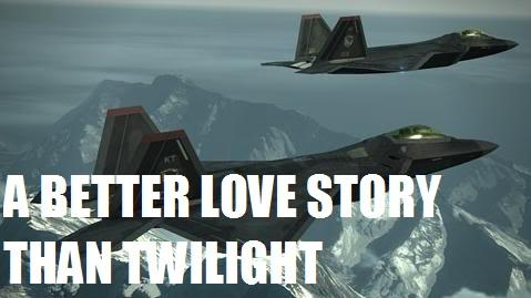 "Even an AERIAL COMBAT GAME had a better love story than ""Twilight"""