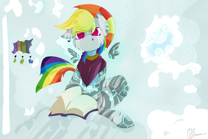 Zebra Rainbow Dash