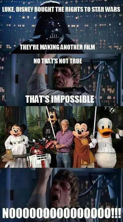Disney Bought the rights to Star Wars