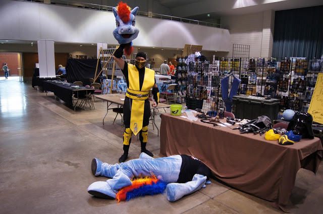 """Scorpion: """"That's what you get for forgetting to set your clock back one hour Rainbow Dash!"""""""