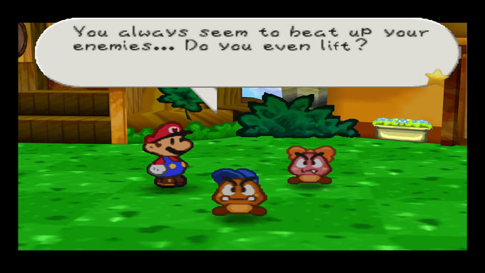 Paper Mario Lifts... Paper?
