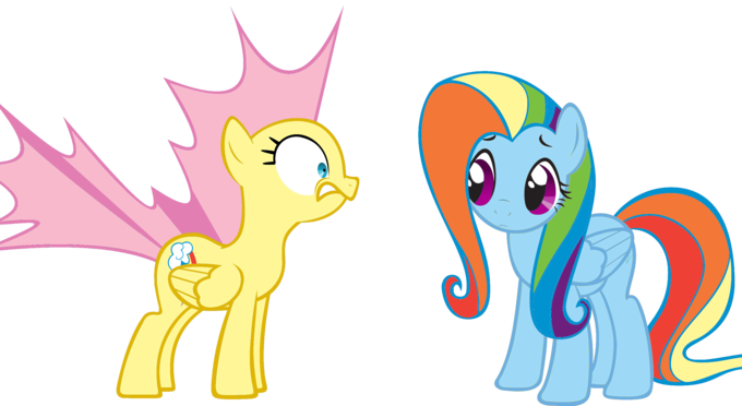 Rainbowshy and Flutterdash