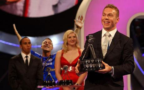 John Terry celebrates BBC Sports Personality of the Year 2008
