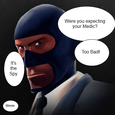 It's the spy