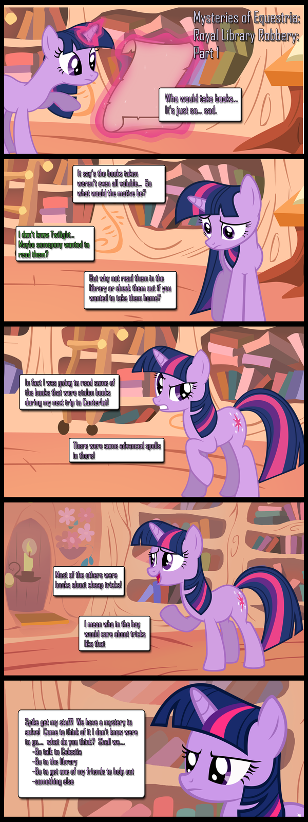 Mysteries of Equestria: Library Robbery: Part 1