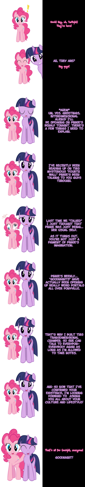 Pinkie and Twilight say Goodnight!