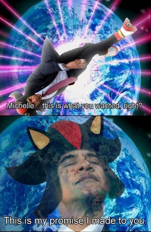 Obama the Hedgehog fufils his promise