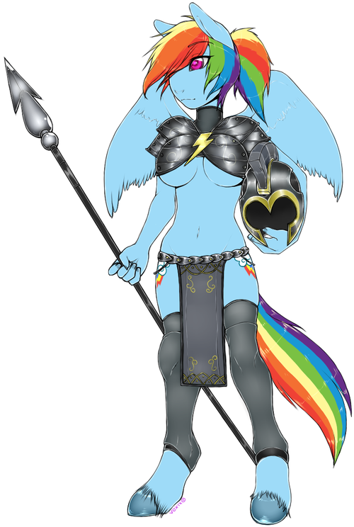 Rainbow Dash the Knight