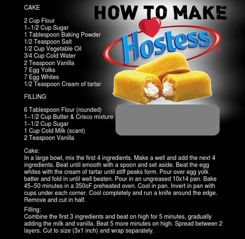 How to Make Twinkies