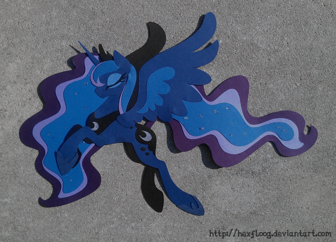 Princess Luna in paper