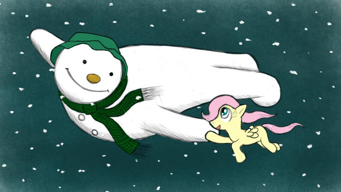 Fluttershy And The Snowman