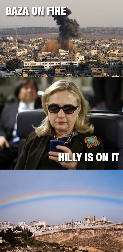 Hillary Saves Gaza