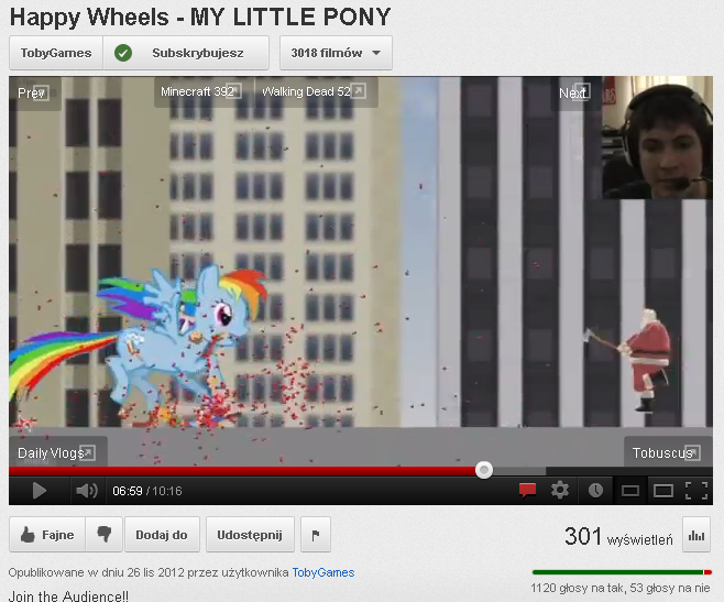 """When a YouTuber with over 2 kk subs says word """"pony"""" in a video, shitstorm cannot be avoided..."""