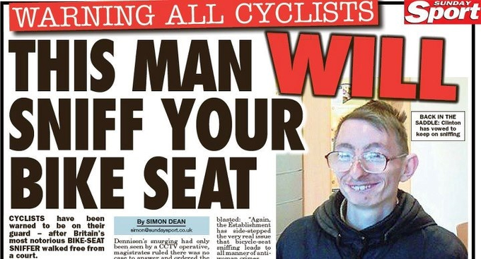This man WILL sniff your bike seat