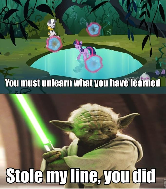 Quoted Yoda, Zecora Did
