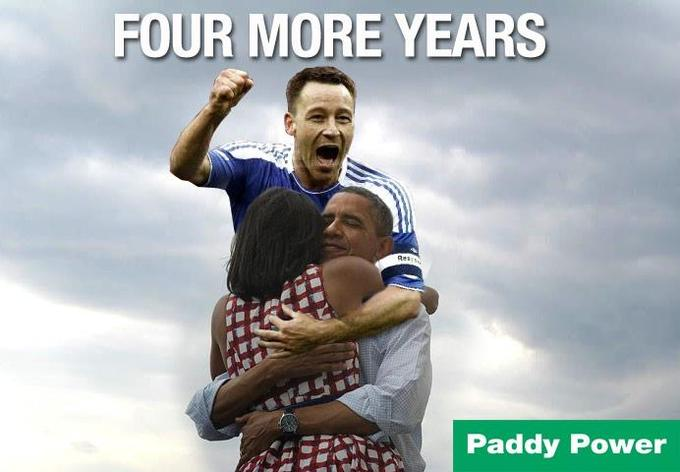 John Terry Celebrates Obama's 2012 Election Win