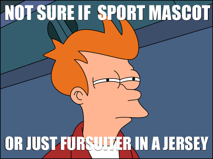 Not sure if sport mascot or just fursuiter in a jersey