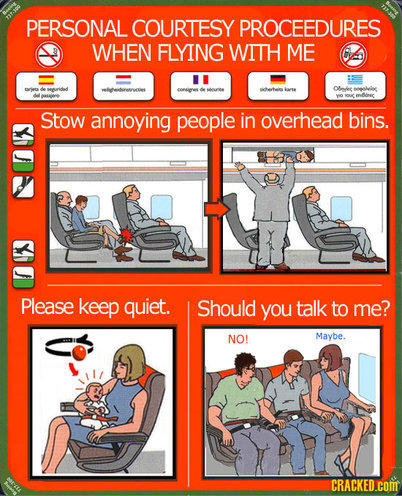 Personal courtesy procedures when flying with me