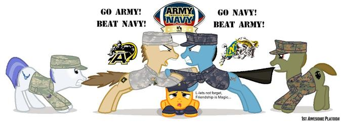 the rivalry continues this weekend (GO ARMY BEAT NAVY!!!)